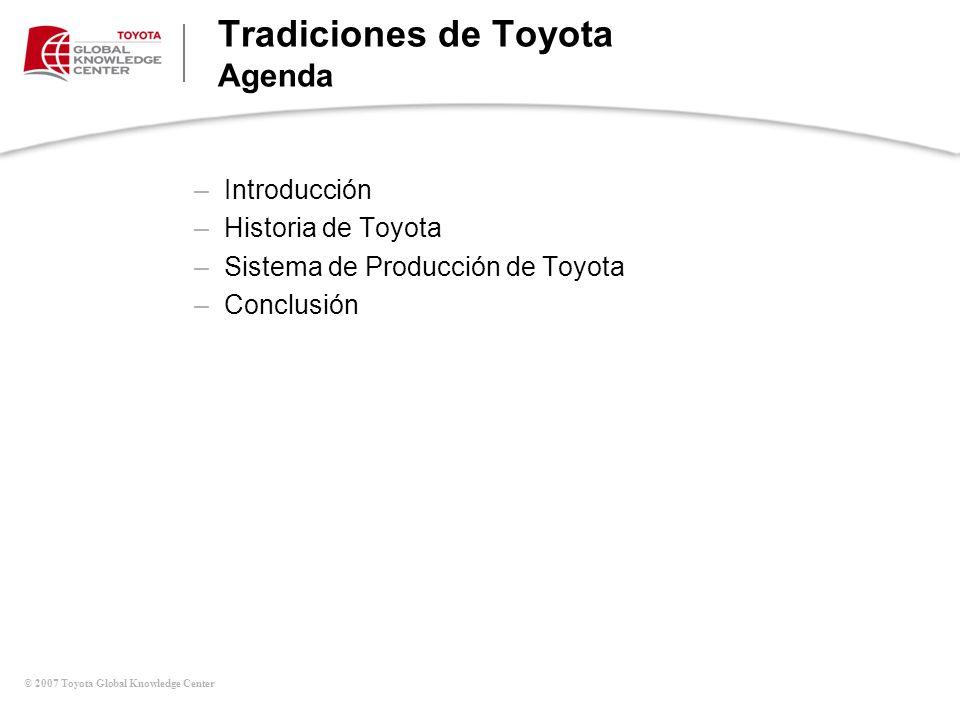Tradiciones de Toyota Agenda
