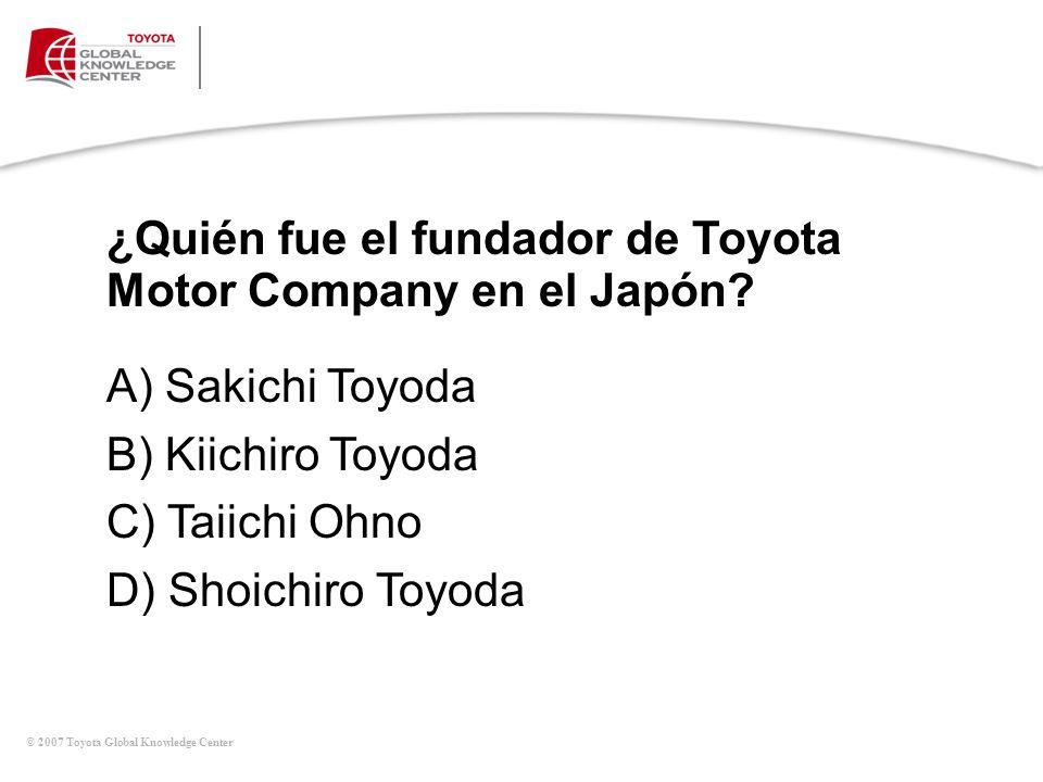 ¿Quién fue el fundador de Toyota Motor Company en el Japón