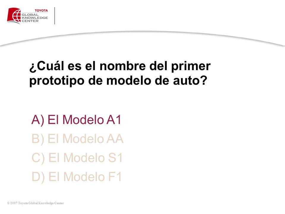 ¿Cuál es el nombre del primer prototipo de modelo de auto