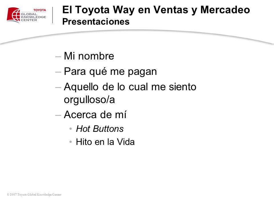 El Toyota Way en Ventas y Mercadeo Presentaciones