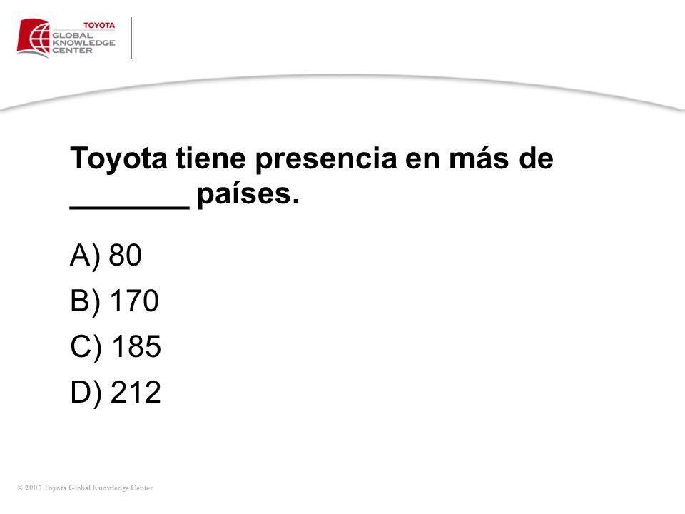 Toyota tiene presencia en más de _______ países.
