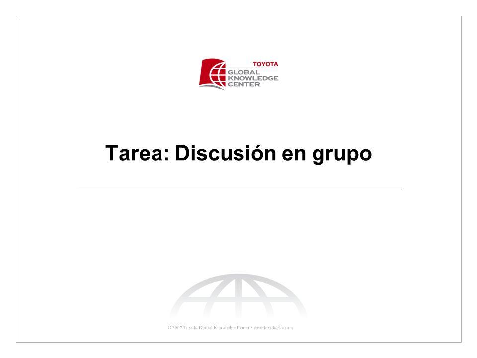 Tarea: Discusión en grupo