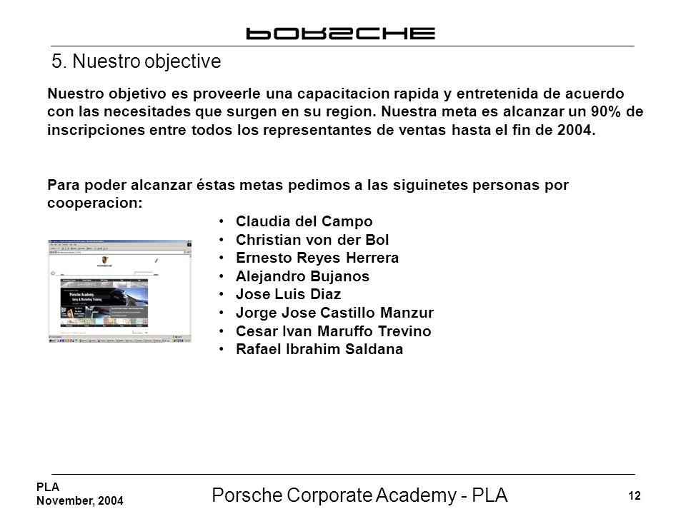 5. Nuestro objective