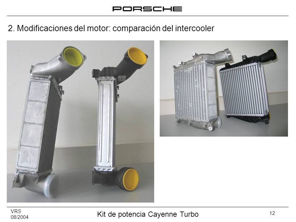2. Modificaciones del motor: comparación del intercooler
