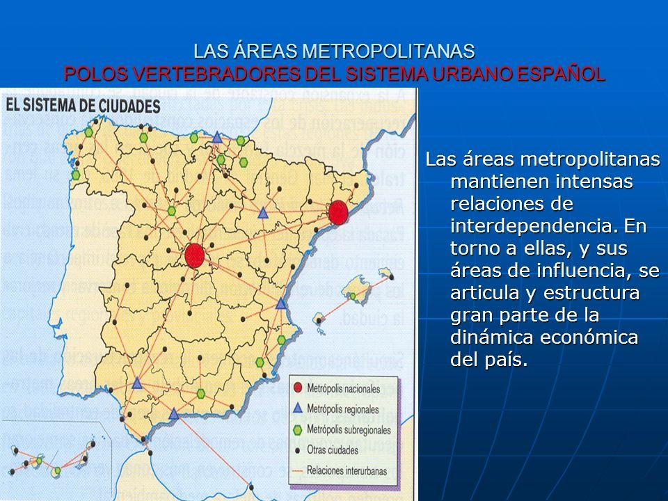 LAS ÁREAS METROPOLITANAS POLOS VERTEBRADORES DEL SISTEMA URBANO ESPAÑOL