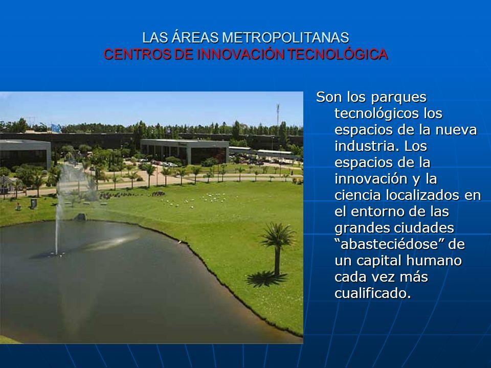 LAS ÁREAS METROPOLITANAS CENTROS DE INNOVACIÓN TECNOLÓGICA