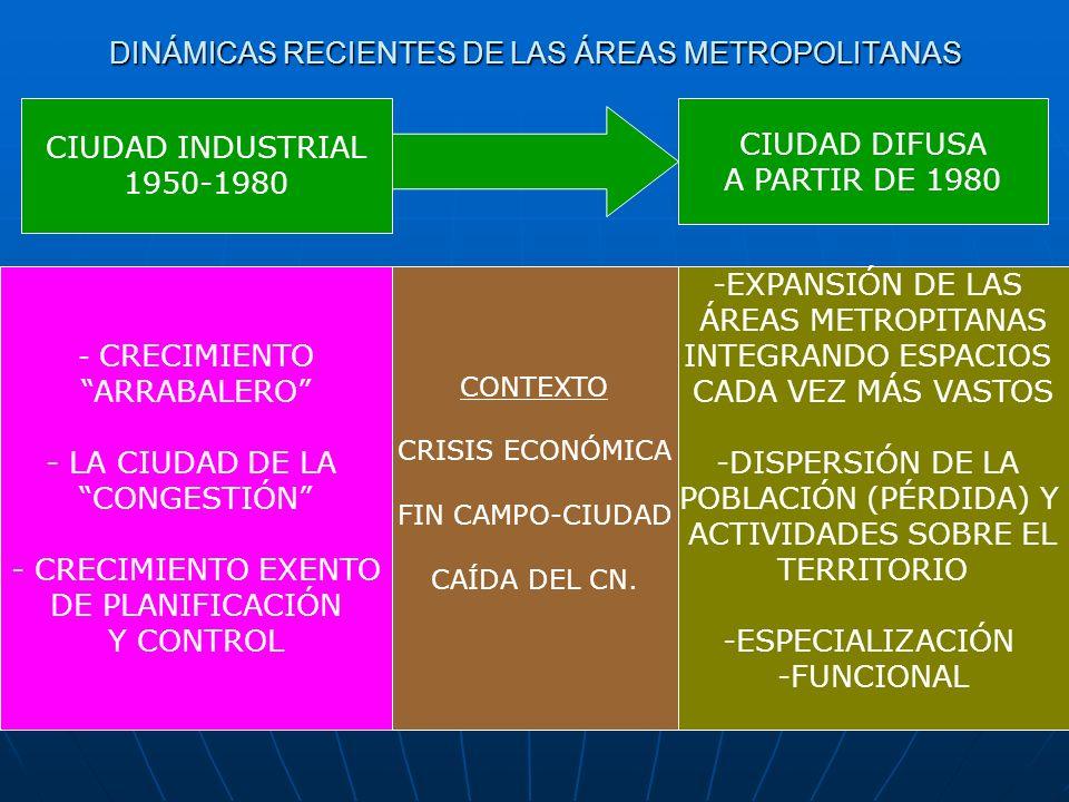 DINÁMICAS RECIENTES DE LAS ÁREAS METROPOLITANAS