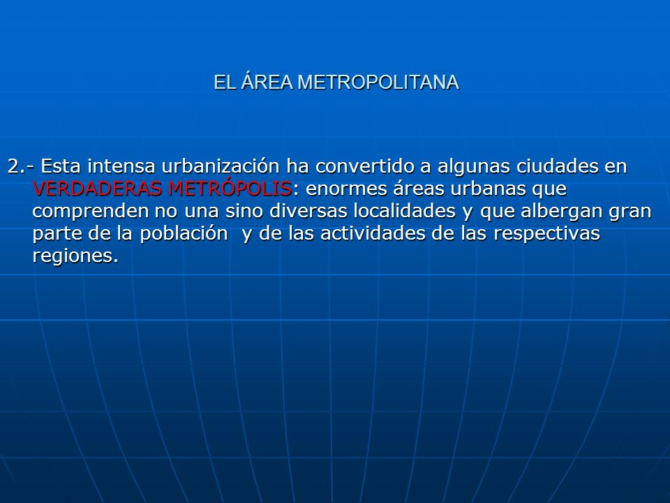EL ÁREA METROPOLITANA