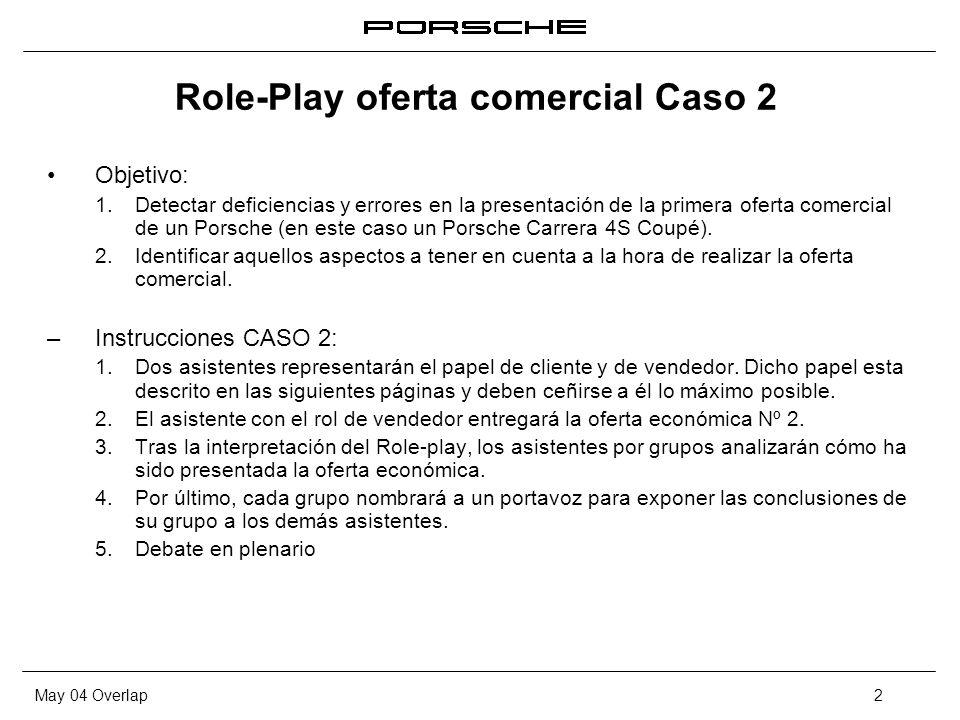 Role-Play oferta comercial Caso 2