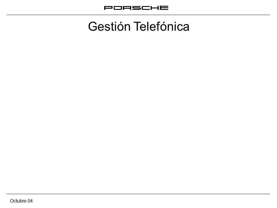 Gestión Telefónica Octubre 04