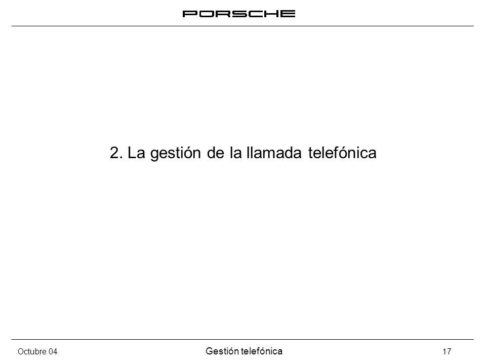 2. La gestión de la llamada telefónica
