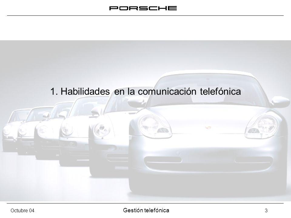 1. Habilidades en la comunicación telefónica
