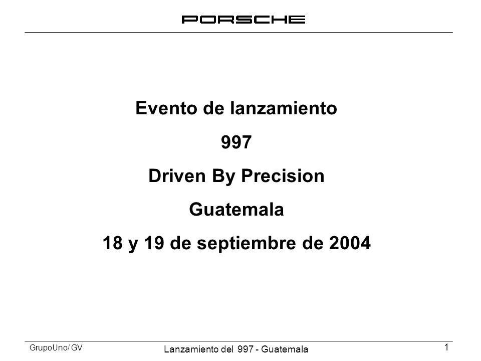 Evento de lanzamiento 997 Driven By Precision Guatemala 18 y 19 de septiembre de 2004