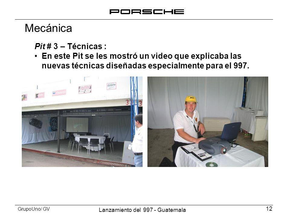 Mecánica Pit # 3 – Técnicas :