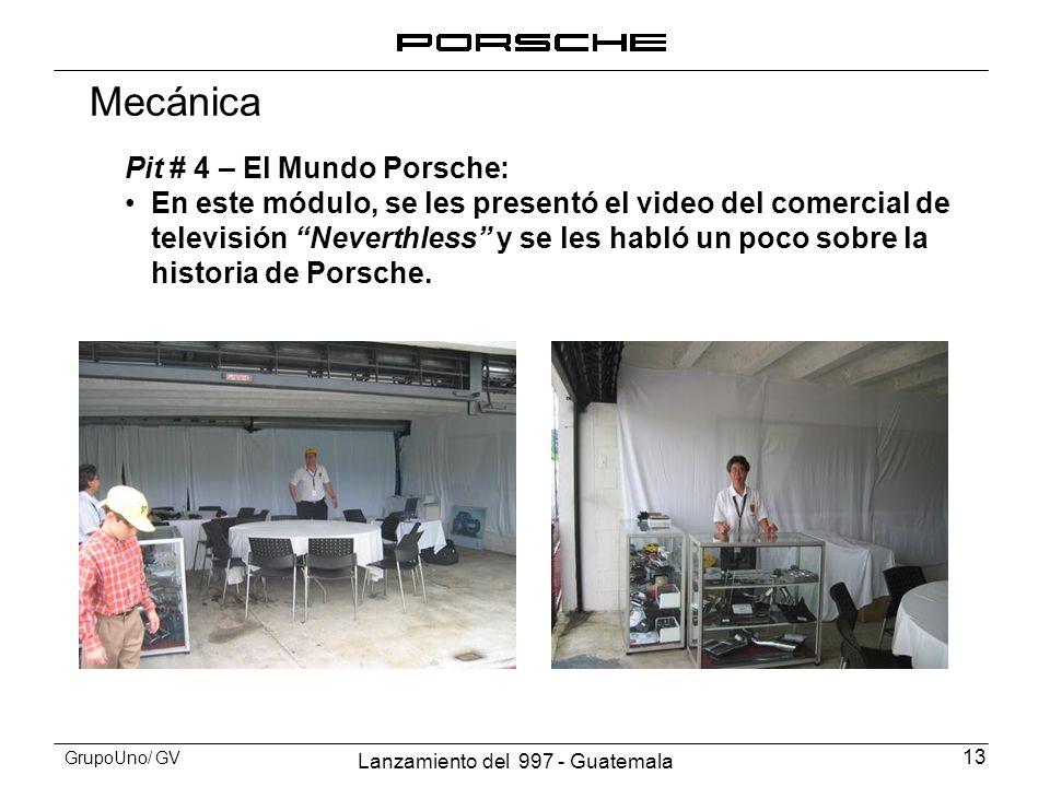 Mecánica Pit # 4 – El Mundo Porsche: