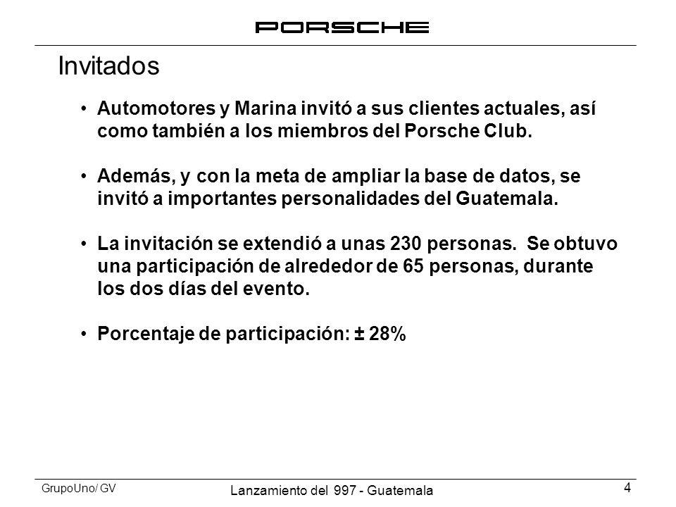 Invitados Automotores y Marina invitó a sus clientes actuales, así como también a los miembros del Porsche Club.