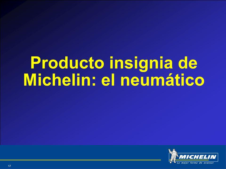 Producto insignia de Michelin: el neumático