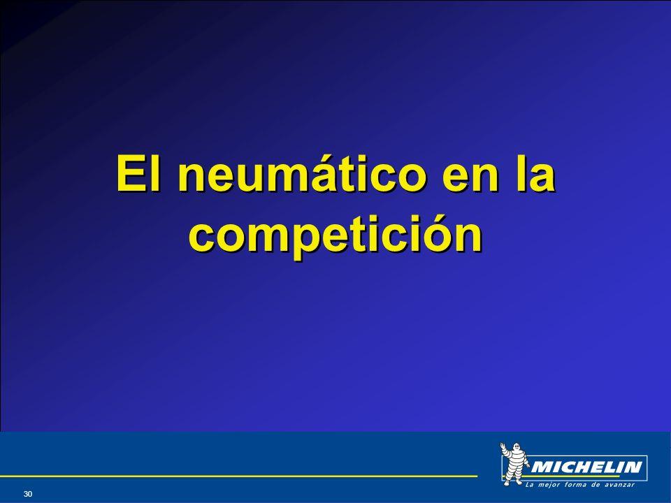 El neumático en la competición