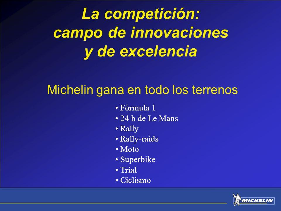 La competición: campo de innovaciones y de excelencia Michelin gana en todo los terrenos
