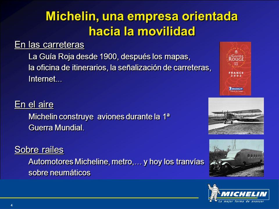 Michelin, una empresa orientada hacia la movilidad