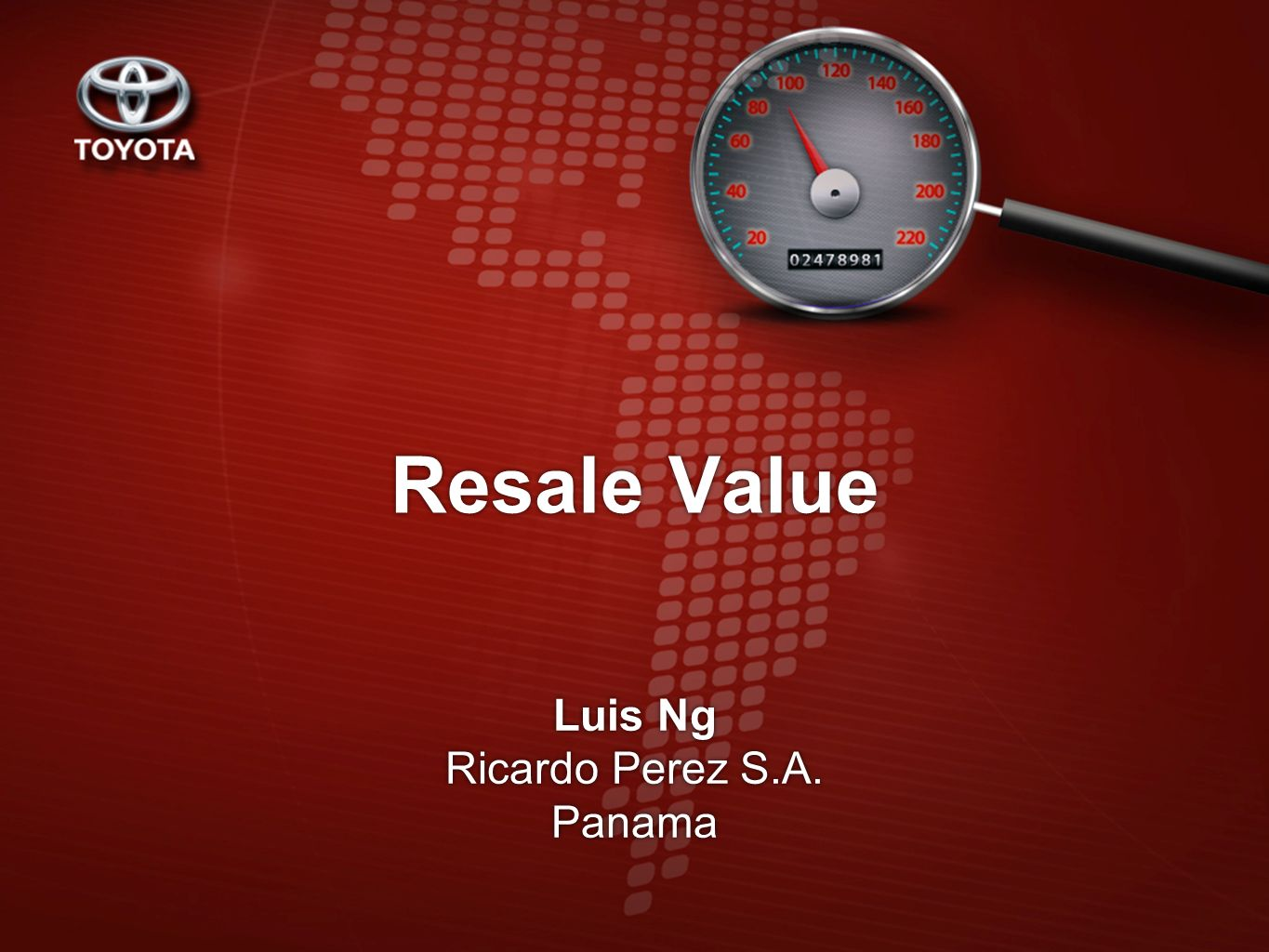 Resale Value Luis Ng Ricardo Perez S.A. Panama