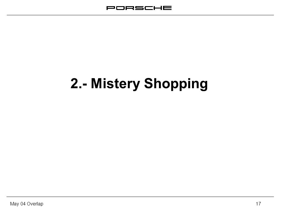 2.- Mistery Shopping
