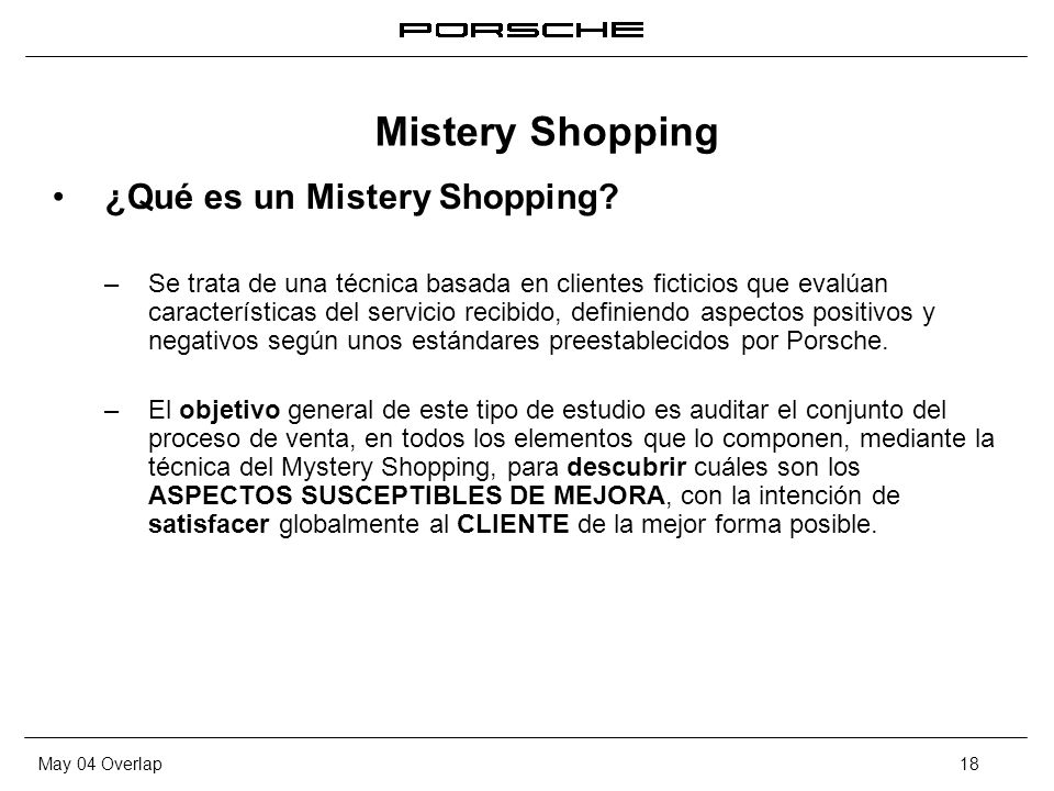 Mistery Shopping ¿Qué es un Mistery Shopping