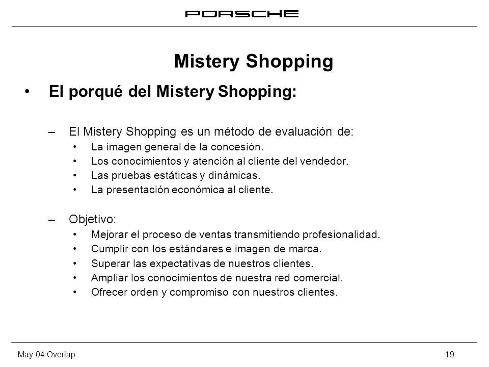 Mistery Shopping El porqué del Mistery Shopping: