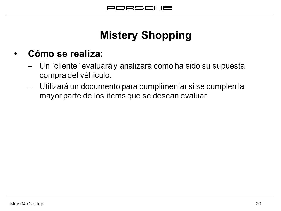 Mistery Shopping Cómo se realiza:
