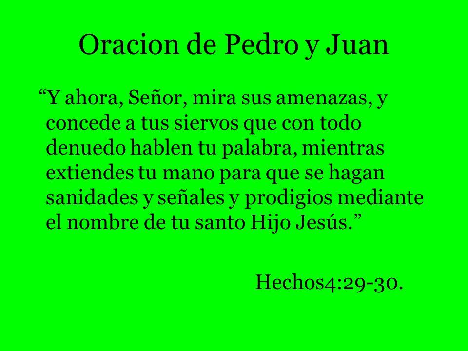 Oracion de Pedro y Juan