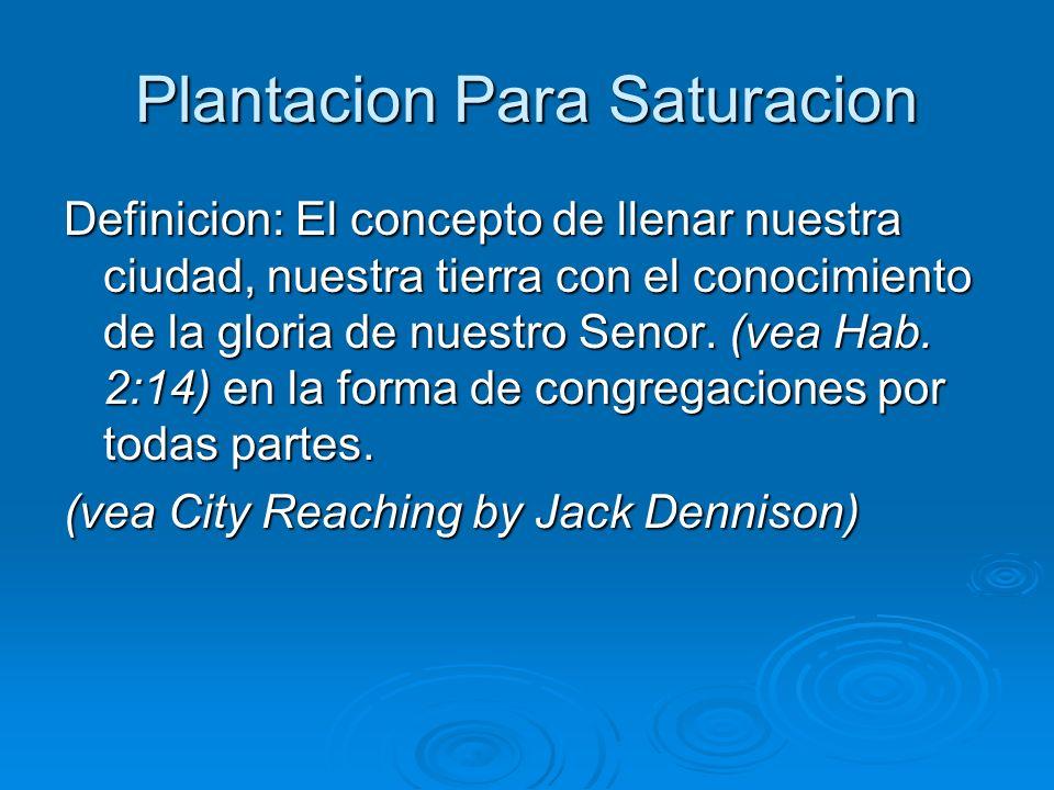 Plantacion Para Saturacion