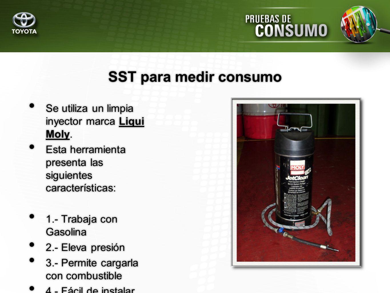 SST para medir consumo Se utiliza un limpia inyector marca Liqui Moly.