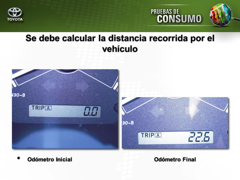 Se debe calcular la distancia recorrida por el vehículo
