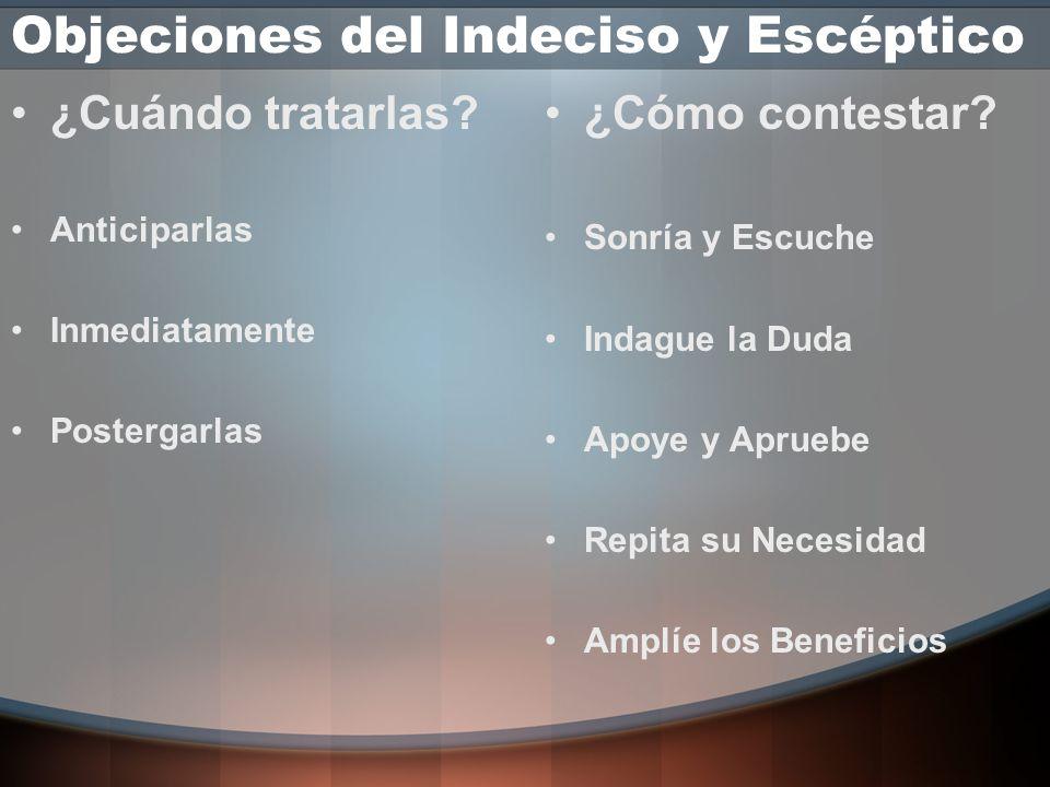 Objeciones del Indeciso y Escéptico