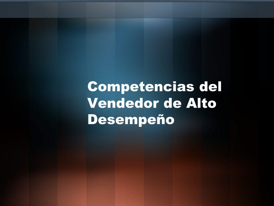 Competencias del Vendedor de Alto Desempeño