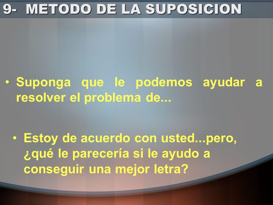 9- METODO DE LA SUPOSICION