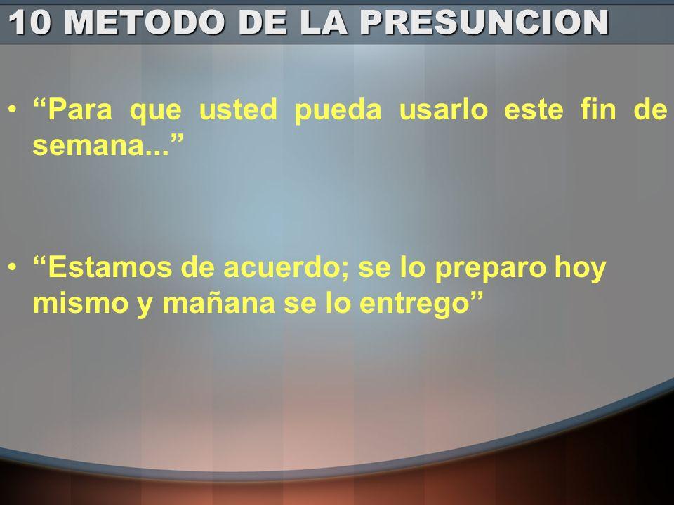 10 METODO DE LA PRESUNCION