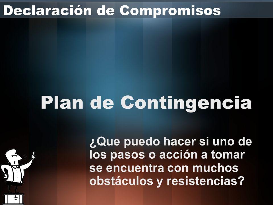 Plan de Contingencia Declaración de Compromisos