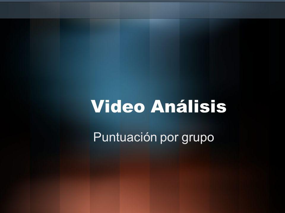 Video Análisis Puntuación por grupo