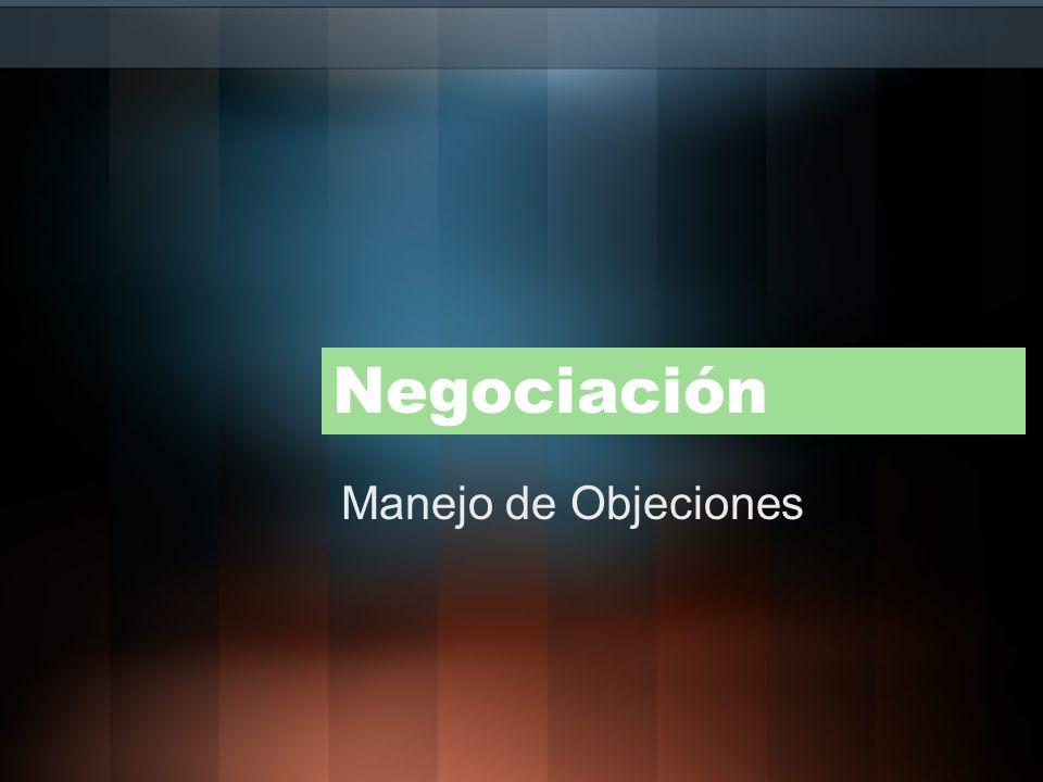 Negociación Manejo de Objeciones