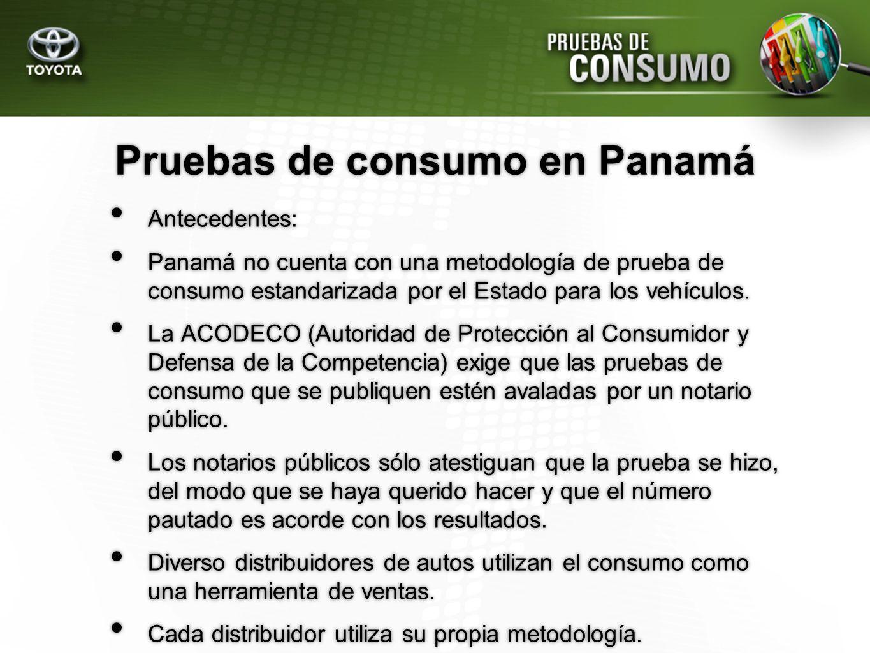 Pruebas de consumo en Panamá