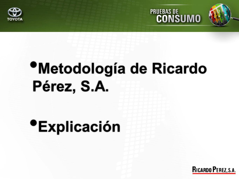 Metodología de Ricardo Pérez, S.A.