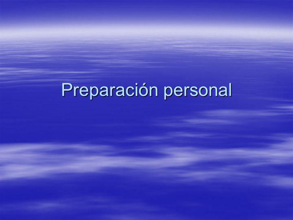 Preparación personal