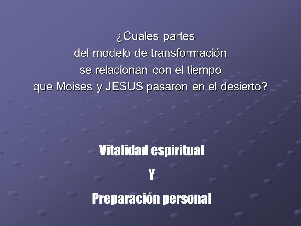 Vitalidad espiritual Y Preparación personal ¿Cuales partes
