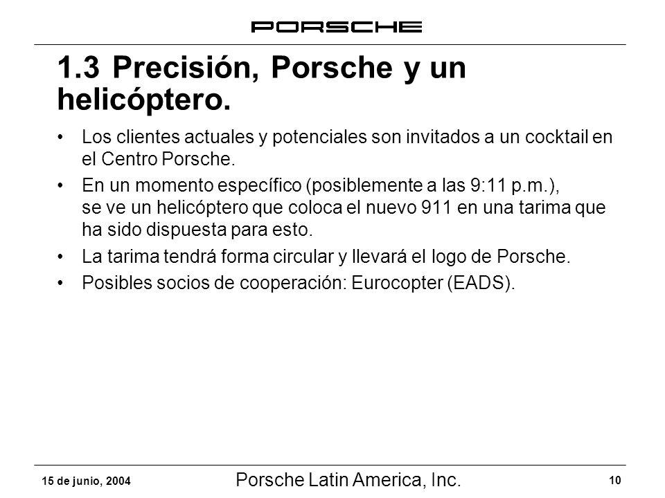 1.3 Precisión, Porsche y un helicóptero.