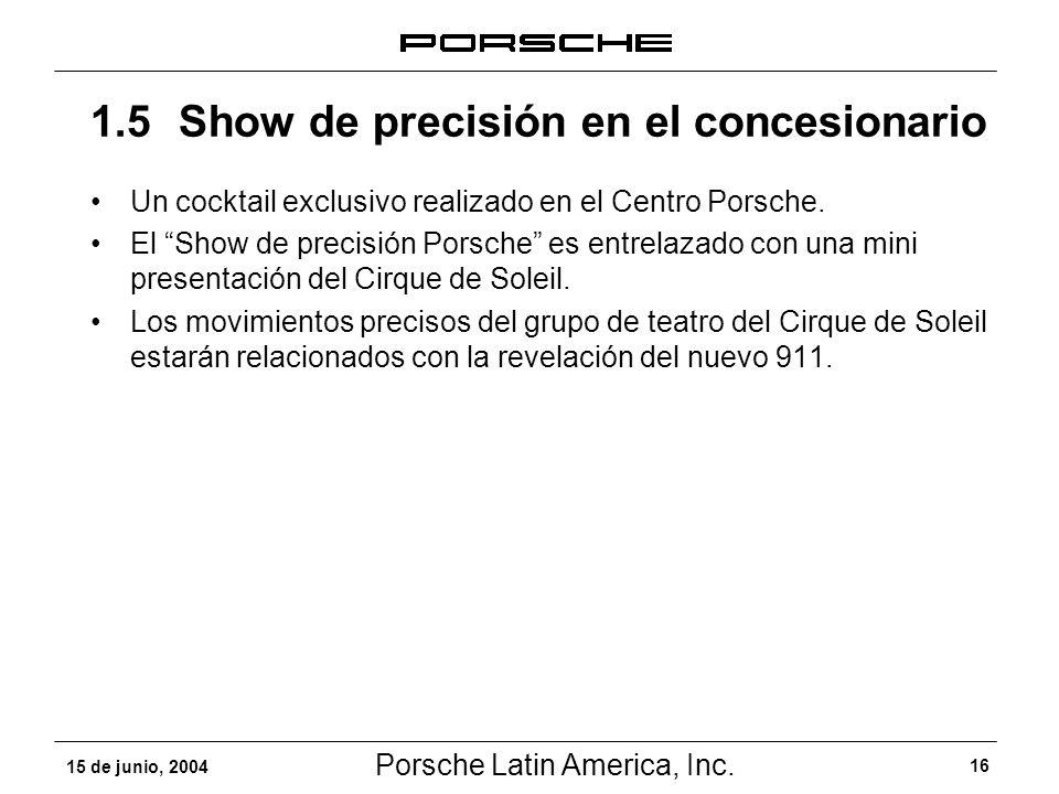 1.5 Show de precisión en el concesionario