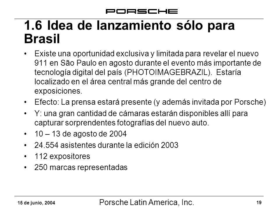 1.6 Idea de lanzamiento sólo para Brasil