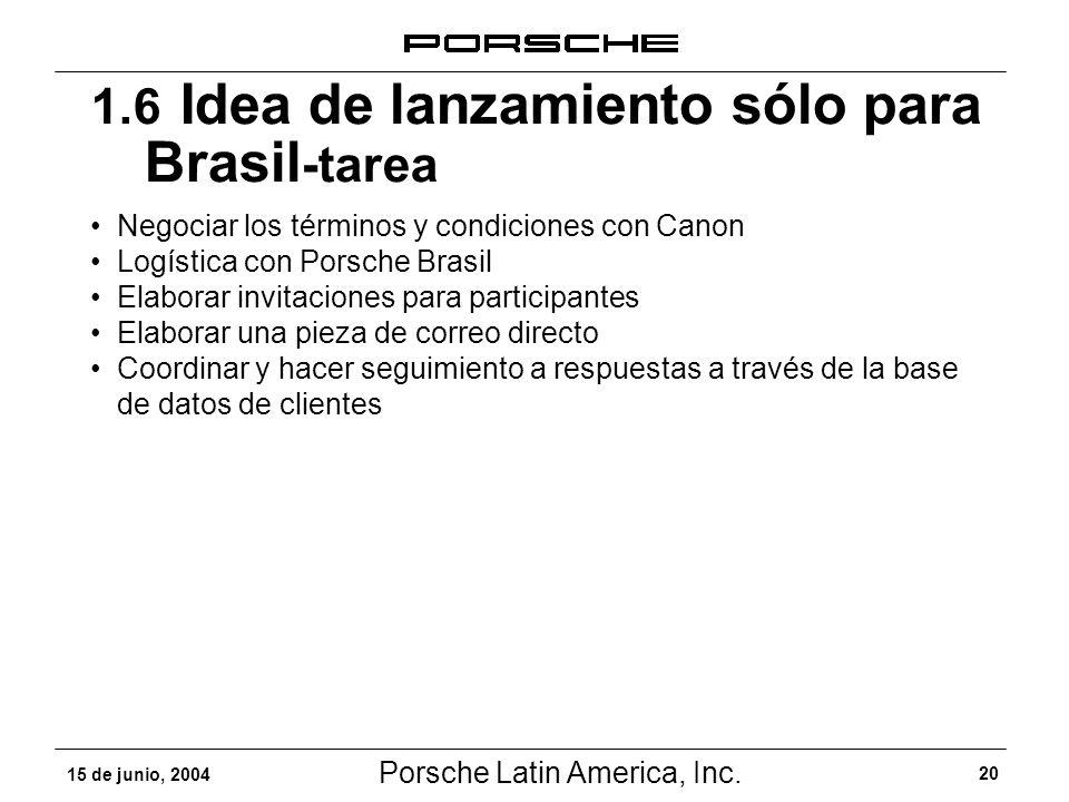 1.6 Idea de lanzamiento sólo para Brasil-tarea