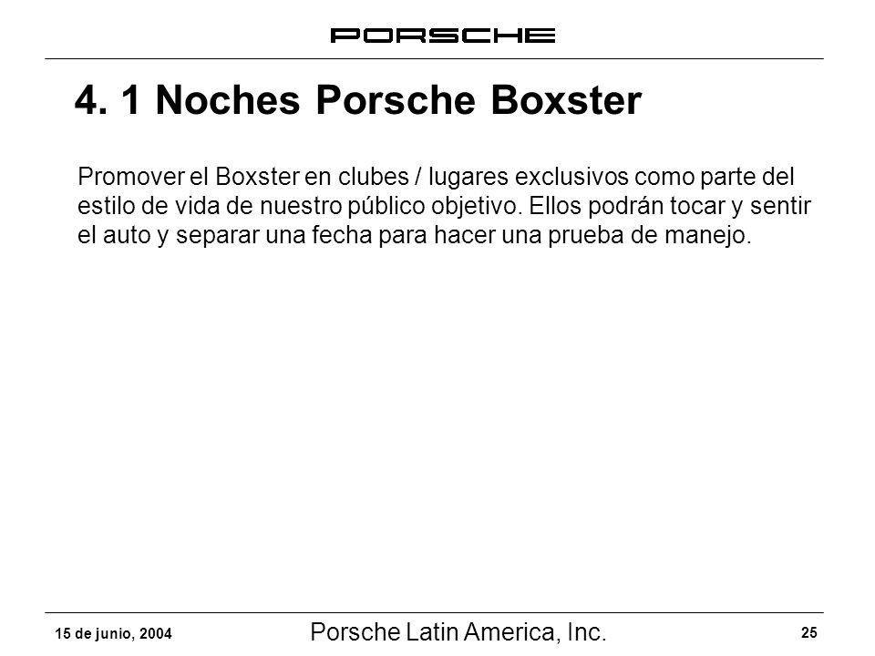 4. 1 Noches Porsche Boxster