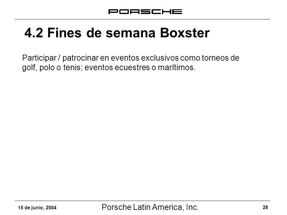 4.2 Fines de semana Boxster